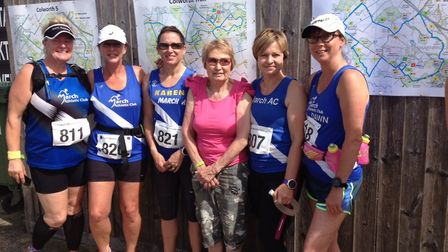 Meanwhile six of March Ladies took part in the Colworth Marathon challenge which is a marathon dista