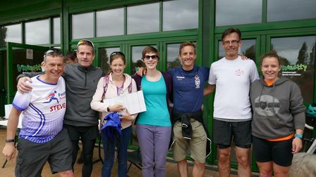 Fenland Running Club's Mixed Open Team at the Green Wheel Relay race. Picture: Fenland Running Club