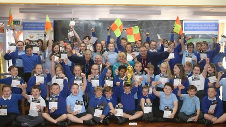 New Road and Park Lane Primary Schools pupils were presented with their Sportsmanship and Fair Play