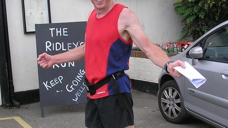Grange Farm & Dunmow Runners Colin Jackson at the Butchers Arms
