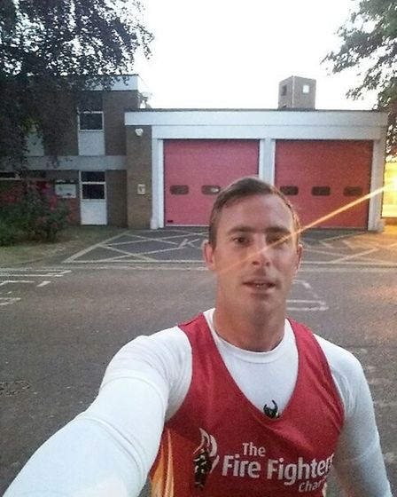 Ely on-call firefighterDuncan Fraser heads into the final stage of his #My75miles challenge