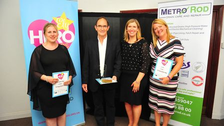 Most Amazing Professional Award winner Ian Halliday (second from left) at the Ely Hero Awards 2018 h
