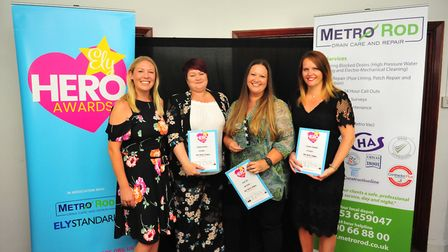 Best Teacher Award Winner Claire Tod (second from right) at the Ely Hero Awards 2018 held at The Mal
