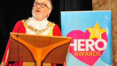 Mayor of Ely Mike Rouse at the Ely Hero Awards 2018 held at The Maltings in Ely. Picture(s): HARRY R