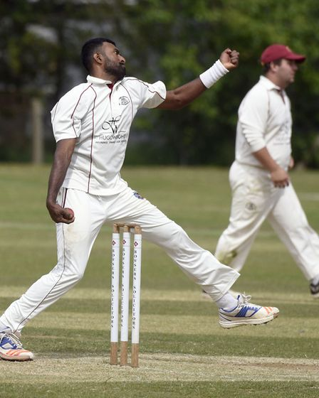 Saranga Rajaguru swooped for seven wickets during his best March display. Picture: IAN CARTER