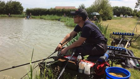 A charity fishing match held in memory of Ricky Rodwell has raised more than £1,000 for a national s