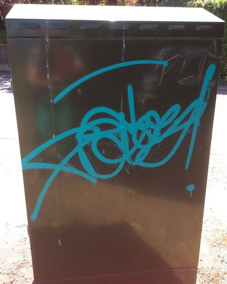 Graffiti spate in Ely prompts police post. PHOTO: East Cambs Police