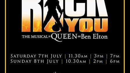 KD Theatre stage We Will Rock You