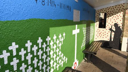 Young people from the Chatteris Royal British Legion, along with their leaders, have re-painted a bu