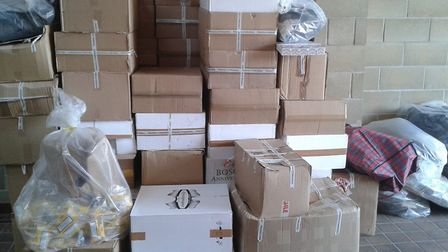 The illegal cigarettes have an estimated street value of £500,000. PHOTO: Norfolk Police