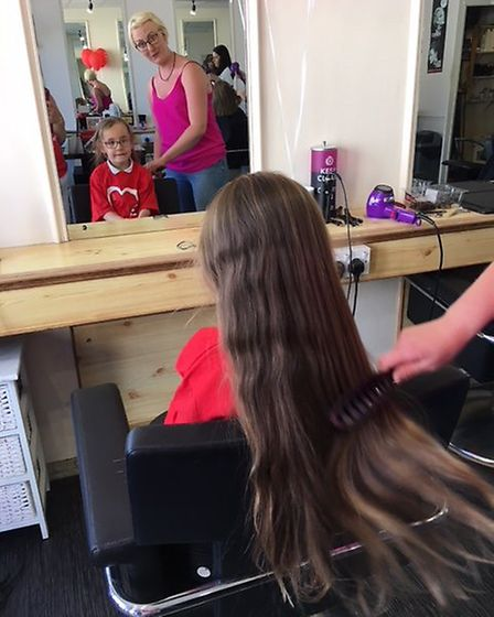 Daisy Hunter-Williams, from East Cambridgeshire, has been growing her hair for the last year, but de