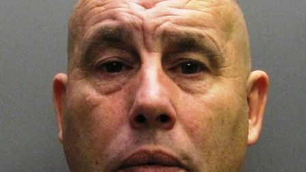 Michael Medcal, of Wilburton, is jailed for attacking his pregnant girlfriend with a rolling pin.