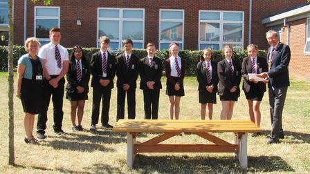 Members of Cromwell Community College's council (pictured) met with Mayor of Chatteris Councillor Bi