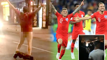 Football fans in Cambridgeshire have been celebrating Englands World Cup win against Colombia last n