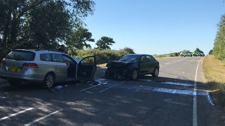 """Police are appealing for witnesses after three people suffered """"serious injuries"""" in a crash on the"""