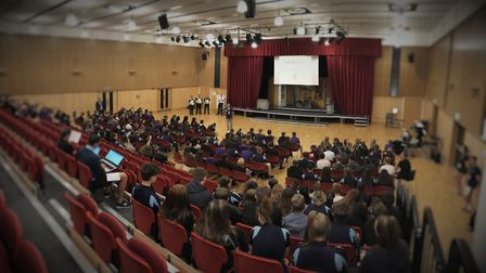 Police visited Thomas Clarkson Academy to discuss the consequences of drugs. PHOTO: Cambs Police