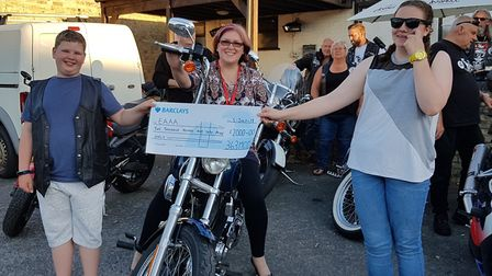 Cheque presentation to the East Anglian Air Ambulance – Littleport-based 363 MCC Motorcycle Club has