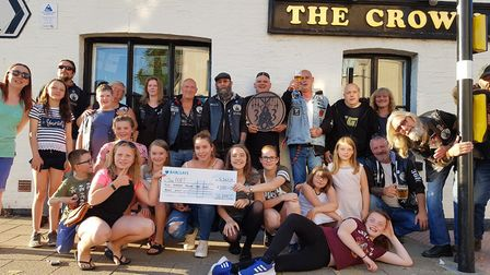 Cheque presentation to The Port youth club – Littleport-based 363 MCC Motorcycle Club has raised ove