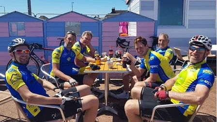 Despite the scorching temperatures, the Octagon Cycling Club took on a 200-mile cycle ride in aid of