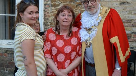 Mayoress of Ely, Cassie Rouse, with Deborah Curtis and Mayor of Ely, Councillor Mike Rouse.
