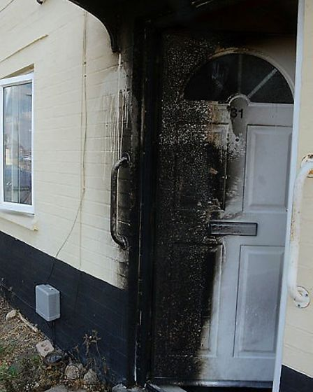 A home in March on Peyton Avenue (pictured) was targeted in an isolated arson attack on Monday (July