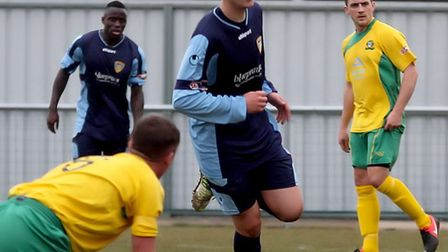 New Soham Town Rangers signing Ryan Auger pictured while playing for St Neots Town in the past. Pict