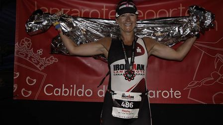 Hayley Turner, King's Ely teaching assistant, recently completed Ironman Lanzarote