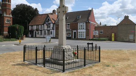 The Haddenham and Wilburton Branch of the Royal British Legion have had the railings reinstated this