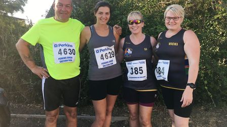 Steve, Sharntelle, Sarah-Jane And Vicki at Eye 5 miler. Picture: Submitted