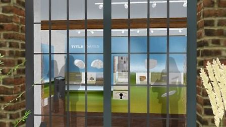 This could be the view into Ely Museum through the window from the courtyard.