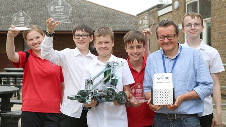 Winners from Witchford Village College - Ely College was host to a Withford-based companys robotics