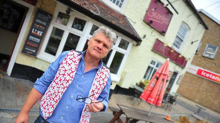 March pub landlord, Nigel Marsh, calls for tougher action on crime in the town. Picture: HARRY RUTTE