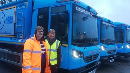 Jo Brooks and Cllr Julia Huffer pictured when the transfer of services took place