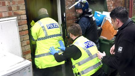 Four arrests have been made in operation Cippus – police storm 'drugs factory' in Wisbech. PHOTO: Ia