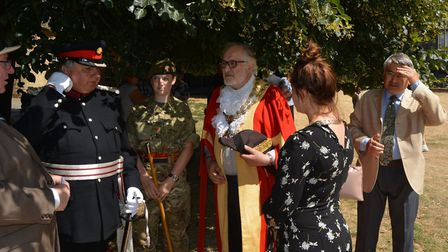 The annual reunion parade and service for the Royal Anglian Regiment Association Cambridgeshire. PHO