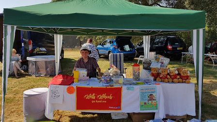 Wimblington fundraising group 'Wills Wheels' at the village fun day. PHOTO: Joanne Rose.