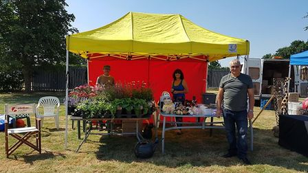 One of the charity stalls at Wimblington fun day
