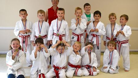 Witcham Judo Club after receiving their medals.