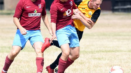 Action from March Town's pre-season friendly against Deeping Rangers. Picture: IAN CARTER