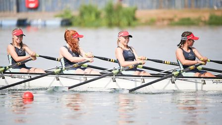 Seren Palmer, of Soham, raced in a quadruple scull with Lara Foulkes from City of Ely College and tw