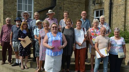 The judges along with Councillor Alison Arnold were out in the sunshine in Ely. PHOTO: Mike Rouse