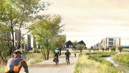 The New Town development would be sited on land to the east of the former Waterbeach Barracks and we
