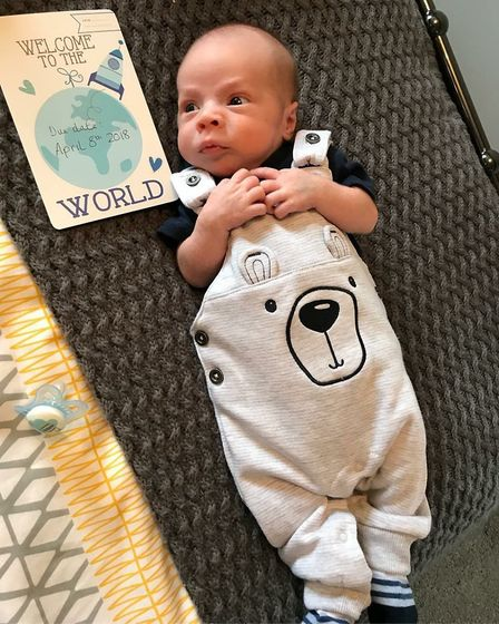 Baby Jack is now doing well following his illness. PHOTO: Submitted