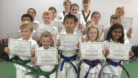 Ely juniors stage two from the Mark Farnham School of Tae Kwon Do PHOTO: Mark Farnham
