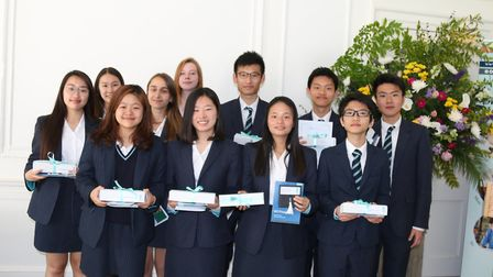 Students pictured at this year's King's Ely international prize-giving service. Picture: Submitted