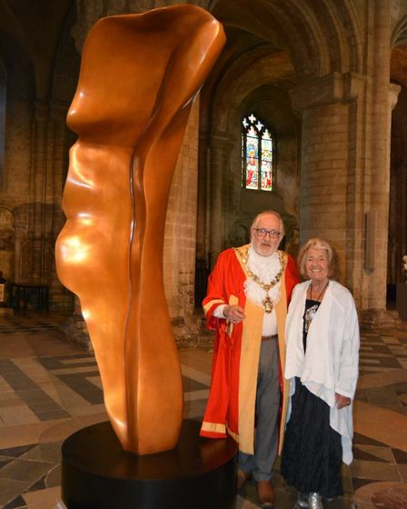 Exhibition of works by artist and contemporary sculptor Helaine Blumenfeld at Ely Cathedral. PHOTO: