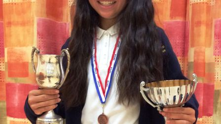 Littleport Community Primary School student Amie Bowen is is British champion for rollerskating. PHO