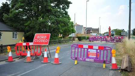 The section of Elm Road closed in March while Anglian Water repairs are being completed. Traffic is