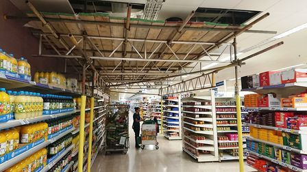 A customer is concerned that scaffolding in Tesco, Ely, is not safe. Tesco says it has been checked
