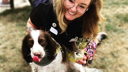 Holly Savage and her dog are among contestants in the Aria Court dog show. PHOTO: Aria Court